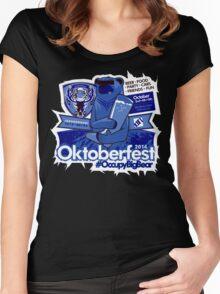 Oktoberfest / #OccupyBigBear 2014 Women's Fitted Scoop T-Shirt