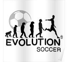 EVOLUTION OF SOCCER Poster