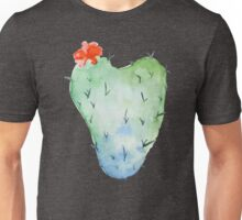 Watercolor cactus in the shape of a heart Unisex T-Shirt