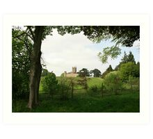 Rolling hills towards Downton Abbey Art Print