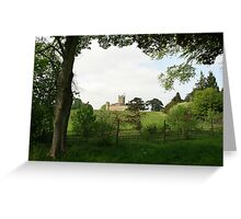 Rolling hills towards Downton Abbey Greeting Card