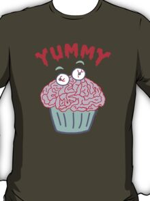 Brain Cupcake For Zombies  T-Shirt
