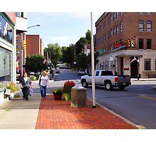 A city street scene Photographic Print