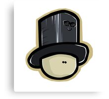 Hat Man And Hatty The Hat Canvas Print