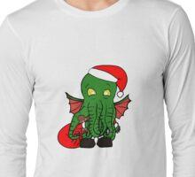 Christmas Time Cthulhu! Long Sleeve T-Shirt