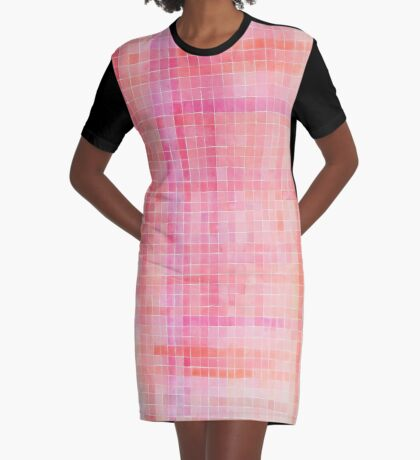 Colour Scheme in Pink Graphic T-Shirt Dress