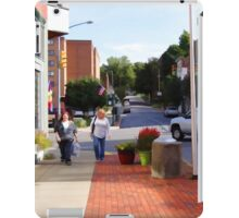 A city street scene iPad Case/Skin