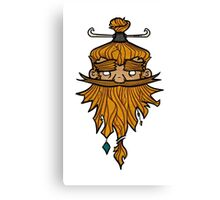 Sweet Nordic Blond Viking Canvas Print