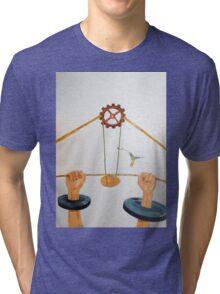 The vulnerable part of mechanisms Tri-blend T-Shirt