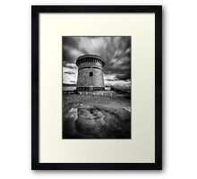 The watchtower in El Campello after the rain Framed Print