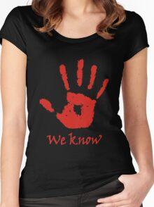 We Know - Dark Brotherhood Women's Fitted Scoop T-Shirt