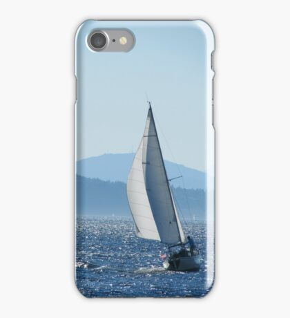 Sailboat on Puget Sound iPhone Case/Skin