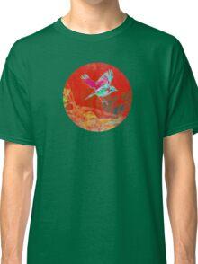 Red bird in flight Classic T-Shirt