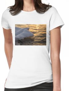 Icy Golds - Glowing Icicles Reflected on Silky Water Womens Fitted T-Shirt