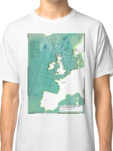 UK Shipping Forecast Map Classic T-Shirt