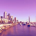 Seattle in Purple by AwayLaughing