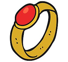 cartoon ruby ring Photographic Print