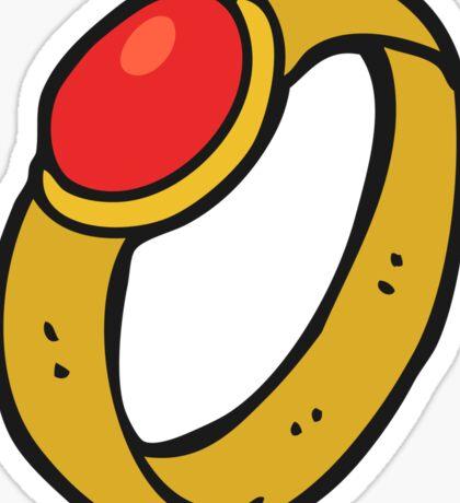 cartoon ruby ring Sticker