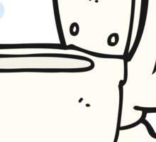 cartoon toilet Sticker