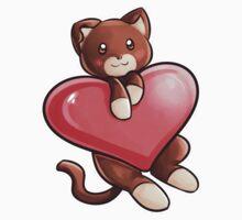 Heart Kitty One Piece - Long Sleeve