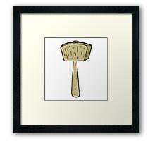 cartoon wooden mallet Framed Print