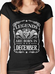 Legends are born in December Women's Fitted Scoop T-Shirt