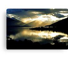 Lake Te Anau at sunset. South Island, New Zealand. (2) Canvas Print