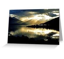 Lake Te Anau at sunset. South Island, New Zealand. (2) Greeting Card