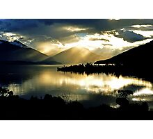 Lake Te Anau at sunset. South Island, New Zealand. (2) Photographic Print