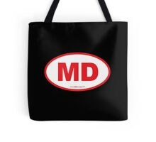 Maryland MD Euro Oval RED Tote Bag
