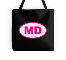 Maryland MD Euro Oval PINK Tote Bag