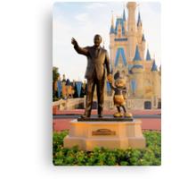 Walt Disney and Mickey Mouse  Metal Print