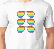 Three Glasses With Rainbow Lenses Unisex T-Shirt