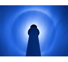 Lighthouse Effect - Blue Photographic Print