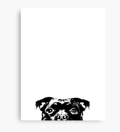 Staffordshire Bull Terrier Dogs Face Canvas Print
