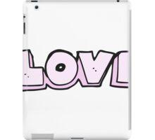 cartoon word love iPad Case/Skin