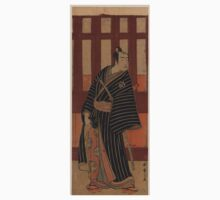 The actor Bando Mitsugoro II in the role of An no Heibei - Shunsho Katsukawa - 1782 Kids Tee