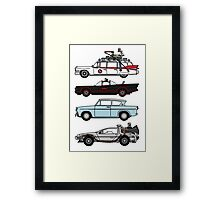 Iconic movie cars Framed Print