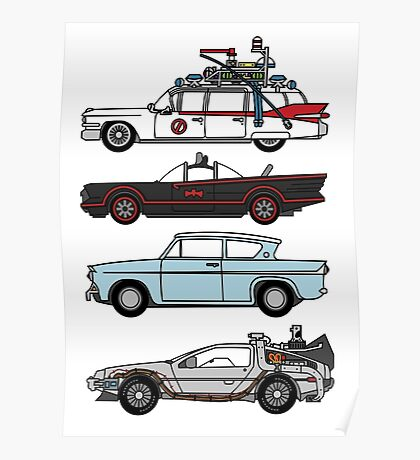 Iconic movie cars Poster