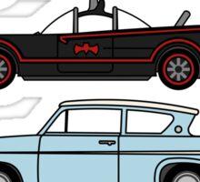 Iconic movie cars Sticker