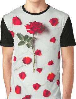 red rose with petals Graphic T-Shirt
