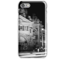 Streaking past Flinders Street Station - Melbourne Australia iPhone Case/Skin
