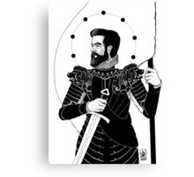 The King in Arms Canvas Print