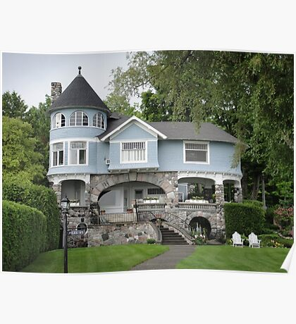 Castle House in Harbor Springs Poster
