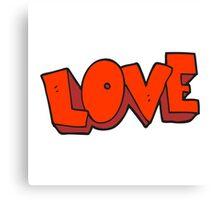 cartoon love symbol Canvas Print
