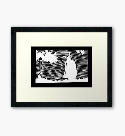 Feild White Framed Print