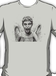 Weeping Angel Watercolor - Doctor Who Fan Art T-Shirt