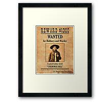 Cherokee Bill Wanted Poster Framed Print