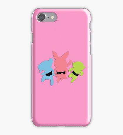 PowerPuff Girl silhouettes iPhone Case/Skin