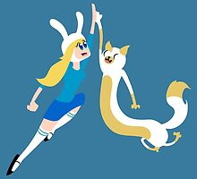 Fionna & Cake - High-Five! by TheSikorsky